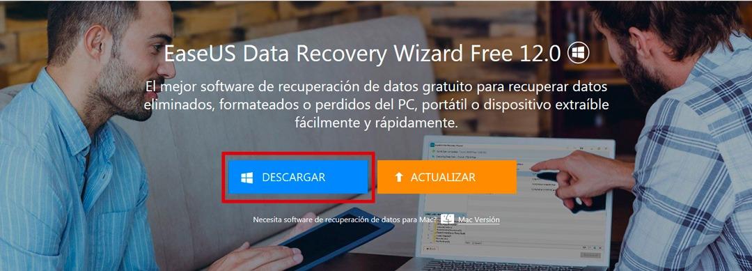 Software para Recuperación de Datos Gratuito EaseUS Data Recovery Wizard Free