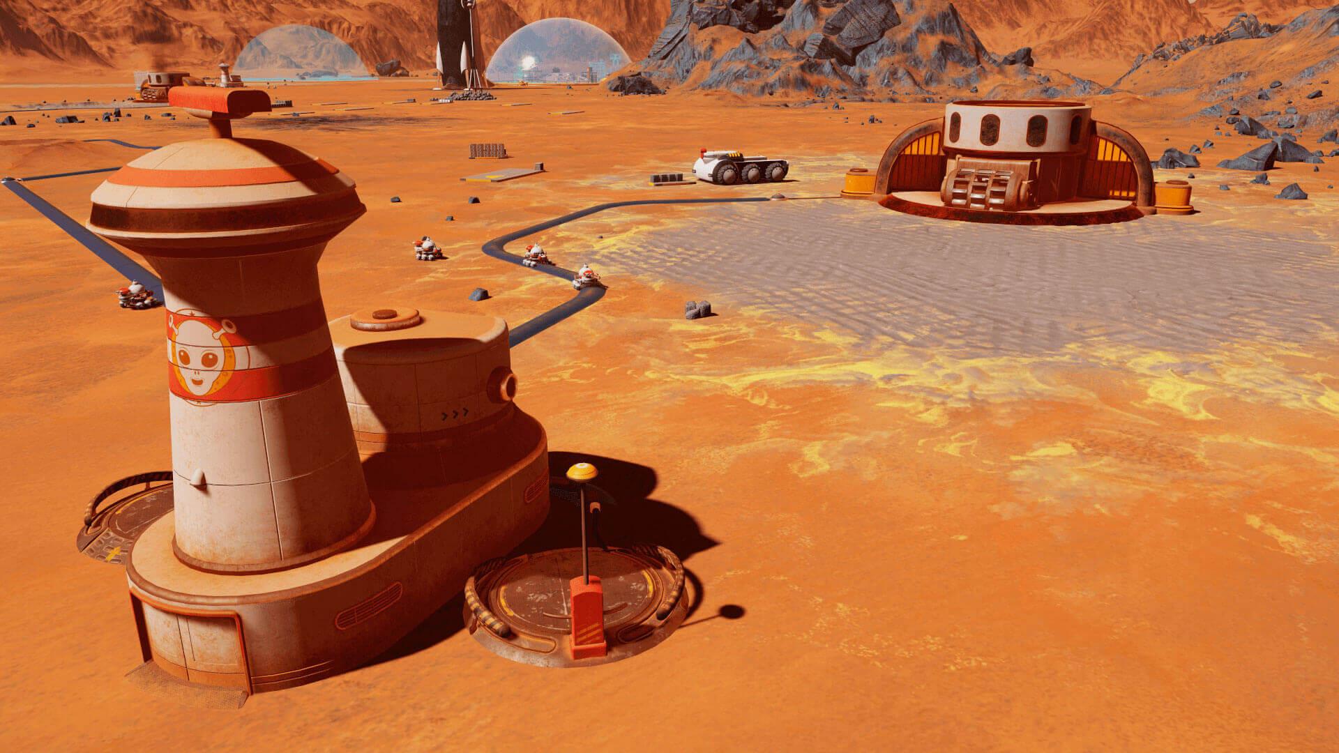 Estación de drones con necesidad de mantenimiento - Surviving Mars