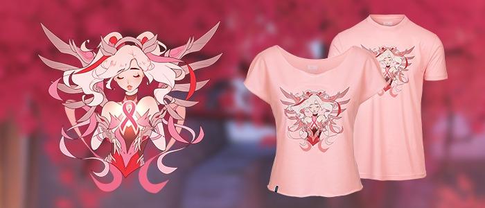 Overwatch colabora con la lucha contra el cancer de mama con Mercy rosa 1