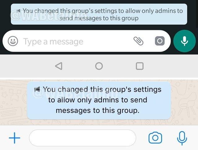 Whatsapp ya permite a los administradores de grupos decidir si los usuarios puedes escribir o no 1