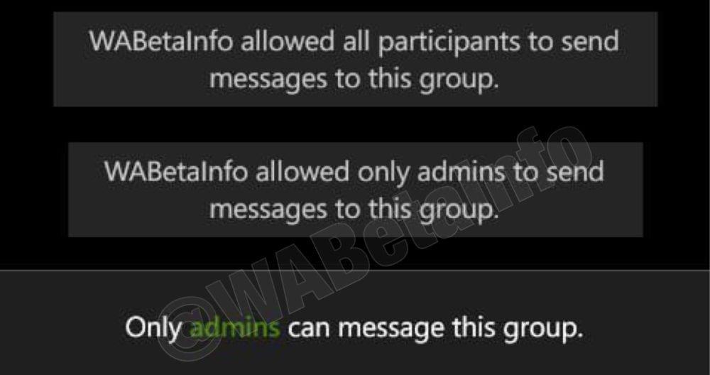 Whatsapp ya permite a los administradores de grupos decidir si los usuarios puedes escribir o no 2