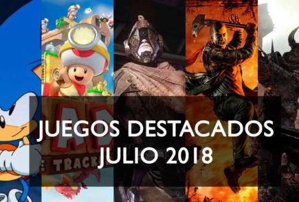 Juegos destacados Julio 2018