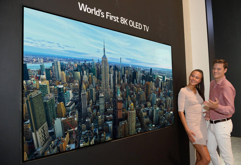 LG presenta el primer televisor OLED 8K del mundo