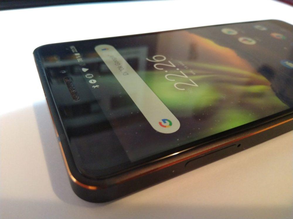 Nokia 6.1 visto por arriba