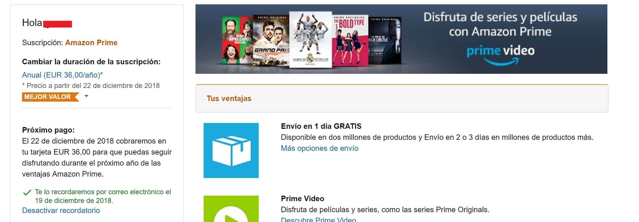 Amazon Prime sube su tarifa en España a 36€ 3