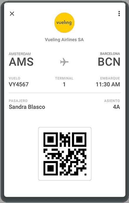 Vueling se une a Google Pay, que ya soporta sus tarjetas de embarque