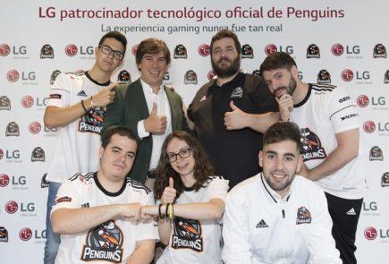 LG llega a los eSports como patrocinador de Penguins