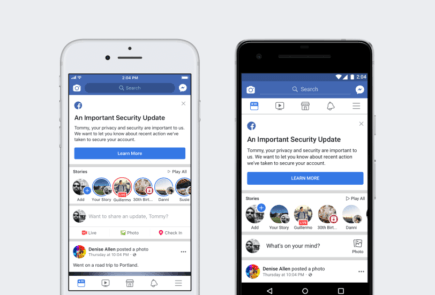 facebook seguridad notificacion