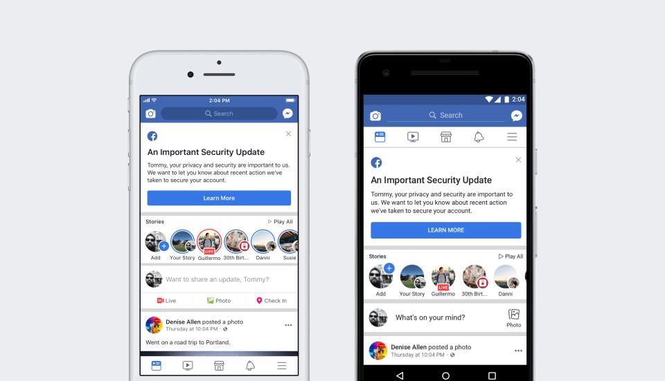 Facebook sufre otra brecha de seguridad, 50 millones de cuentas afectadas
