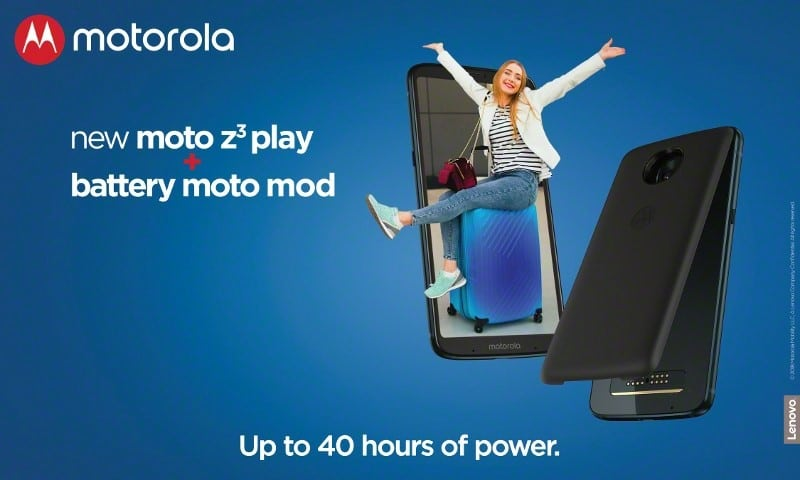 Llega a España el Moto z3 Play Power Edition