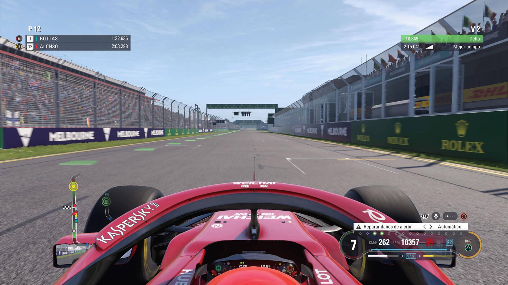 Encarando la recta en F1 2018