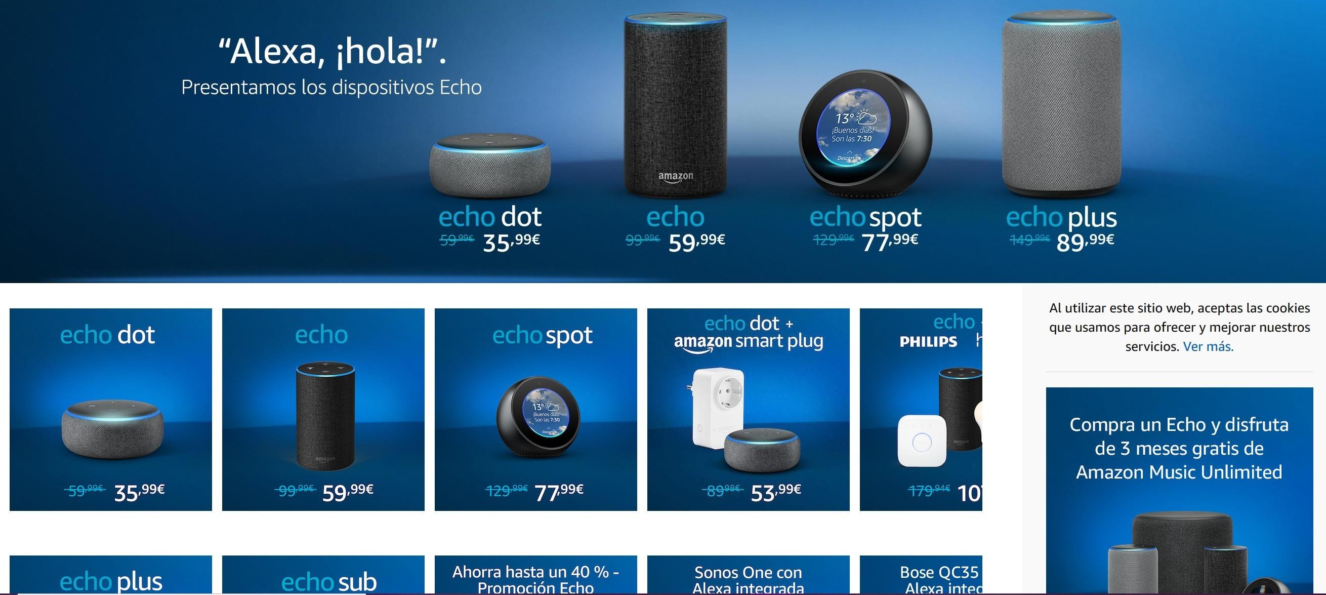 Amazon Echo aterriza en España y lo hace con descuento 1