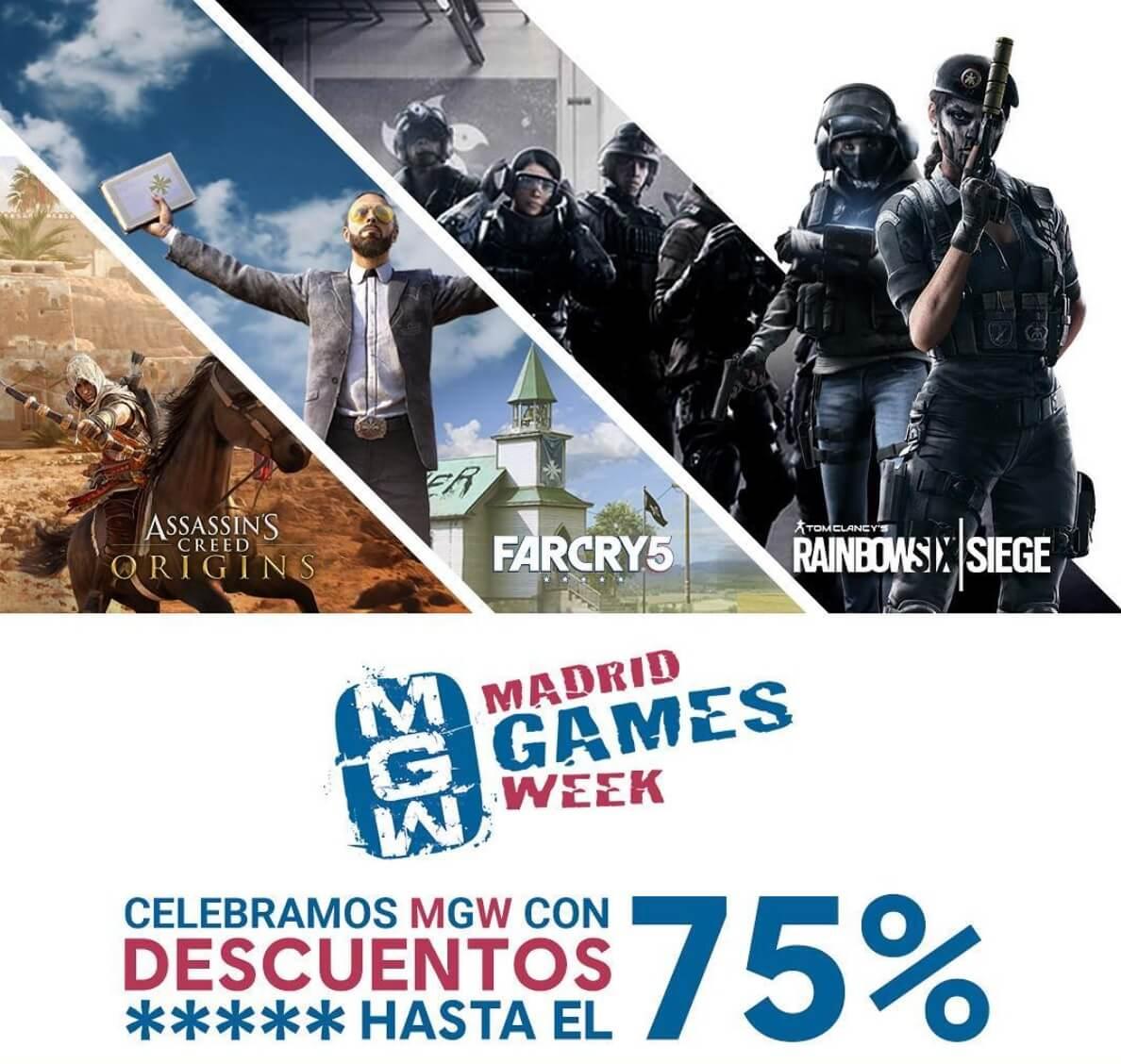 Ubisoft ofrece hasta un 75% de descuento en sus juegos durante el MGW