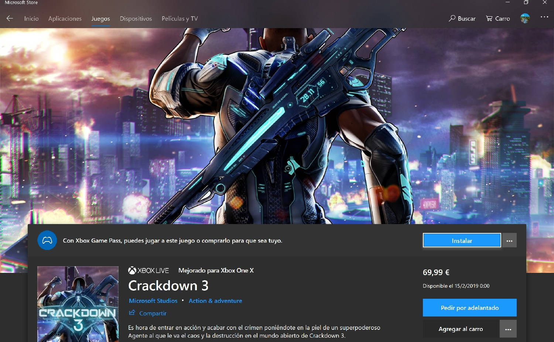 Predescarga Xbox Game Pass