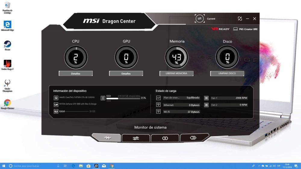 MSI P65 Creator, analizamos este portátil para creadores y gamers 7
