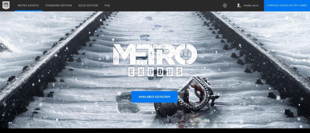 Metro Exodus también apuesta por la tienda de Epic Games para PC 1