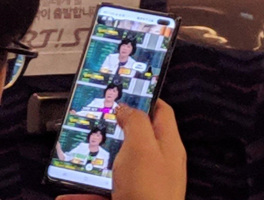 Fotografían el Samsung Galaxy S10+ en Seul 1