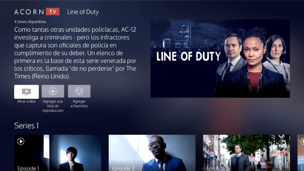 tvOS Acorn TV Line of Duty