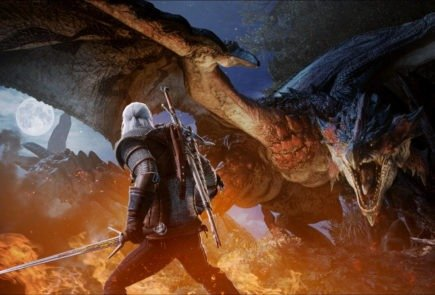 the witcher 3 wild hunt monster hunter world collaboration
