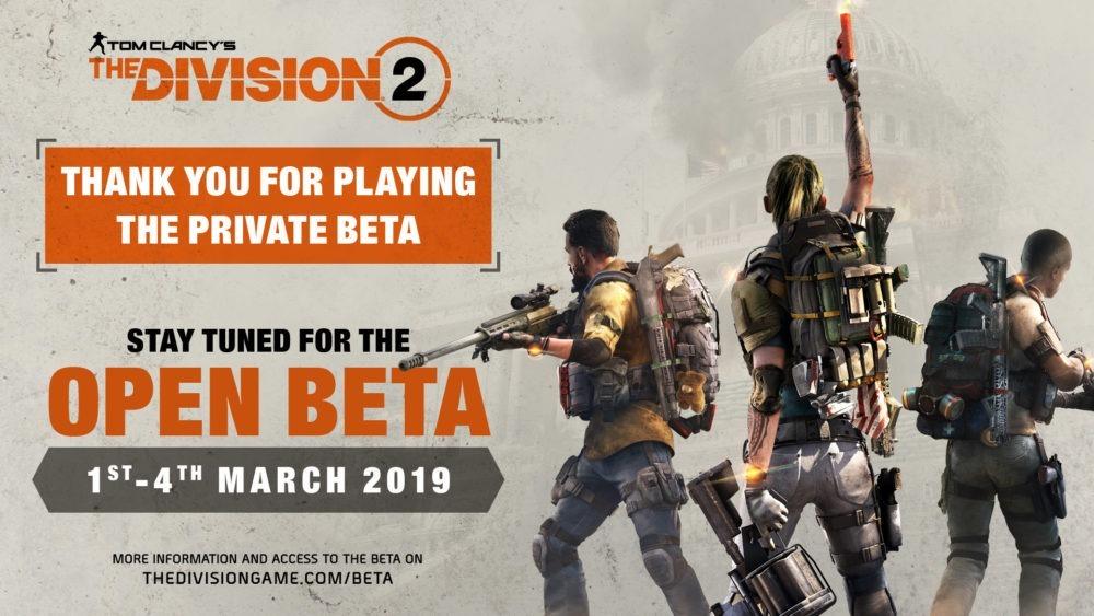 The Division 2 anuncia su beta abierta