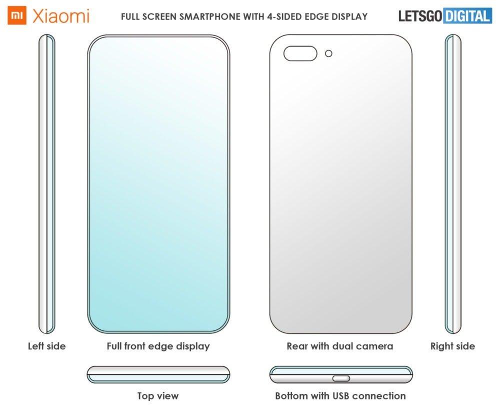 Xiaomi patenta un smartphone con pantalla sin bordes