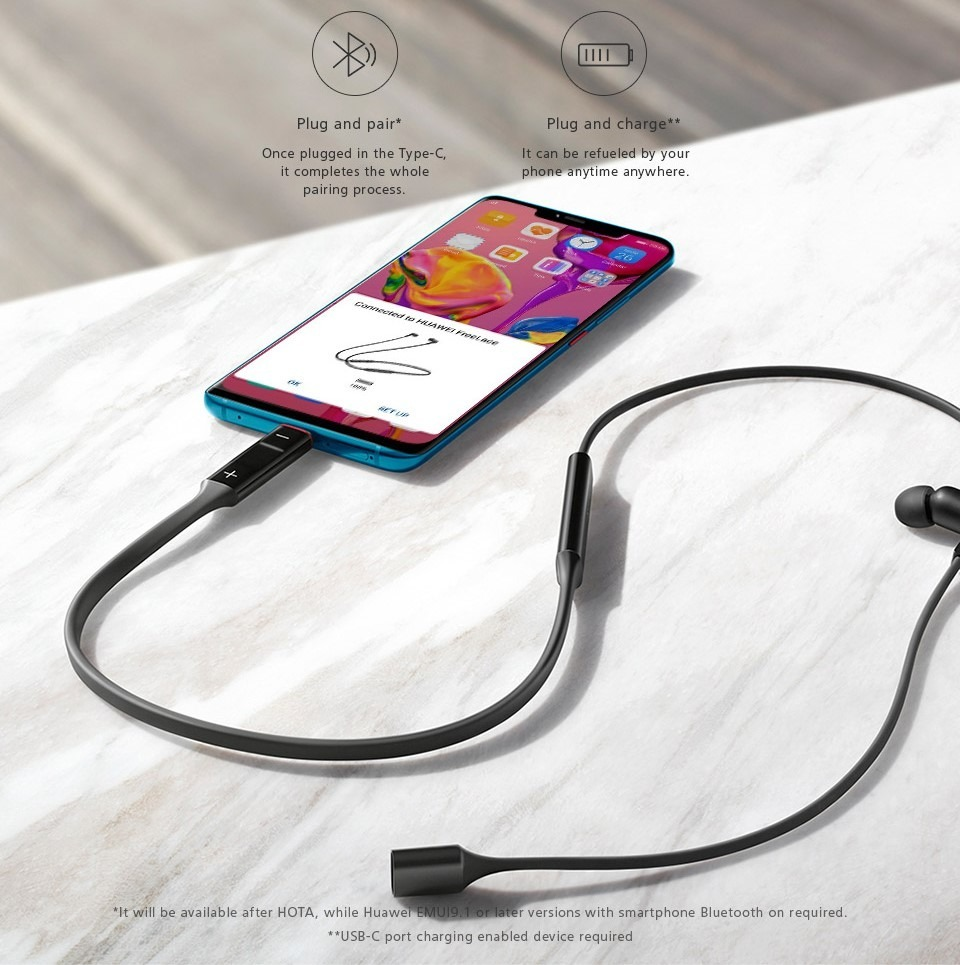 FreeLace, los nuevos auriculares inalámbricos de Huawei 2