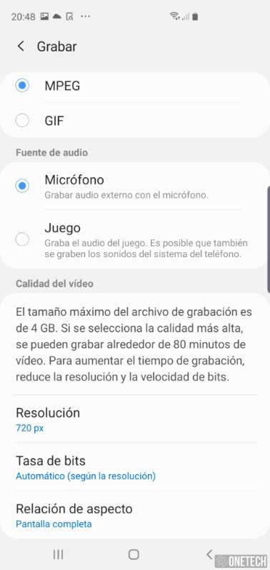 Como grabar la pantalla de tu Samsung Galaxy S10 5