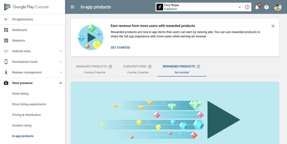 Google Play hace oficial el soporte de recompensas por ver anuncios