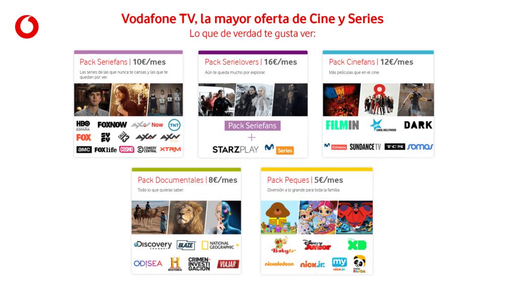 Vodafone TV - planes