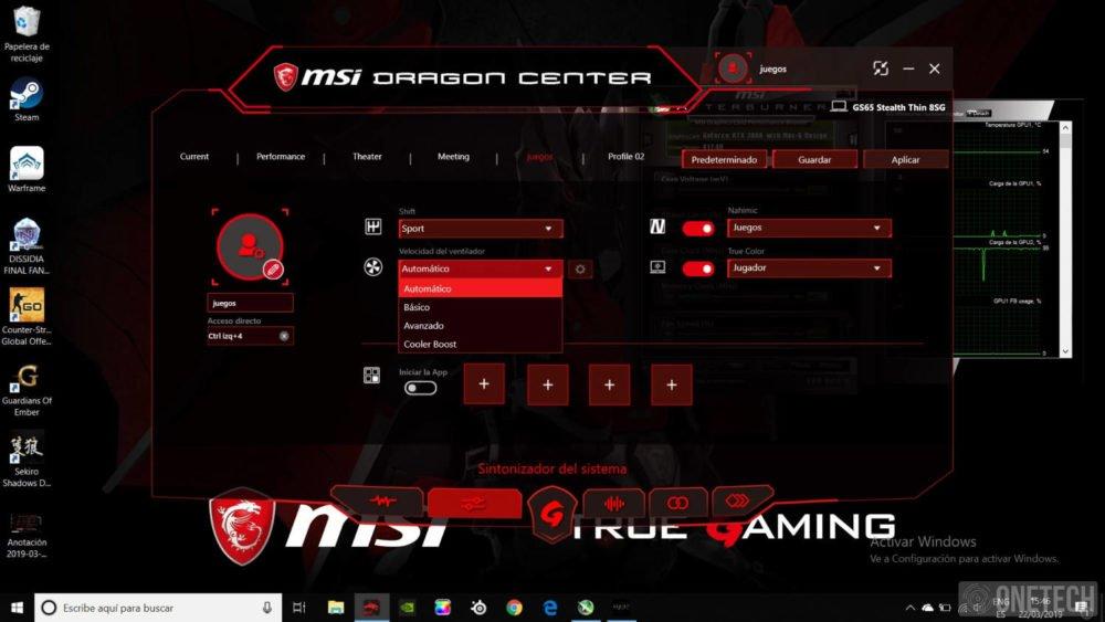 MSI GS65 Stealth 8SG, probamos este portátil gamer con gráfica GeForce RTX 2080 31