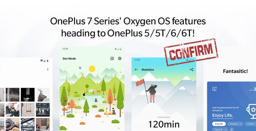 Los OnePlus 5 y 6 recibirán las funciones del Oneplus 7