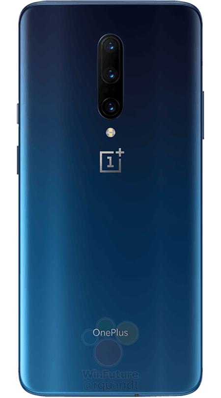 OnePlus 7 Pro, se filtran las imágenes oficiales en azul y negro 1