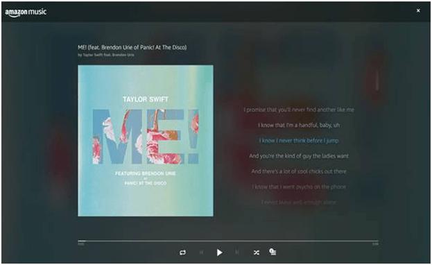 Amazon Music ahora te muestra la letra de las canciones