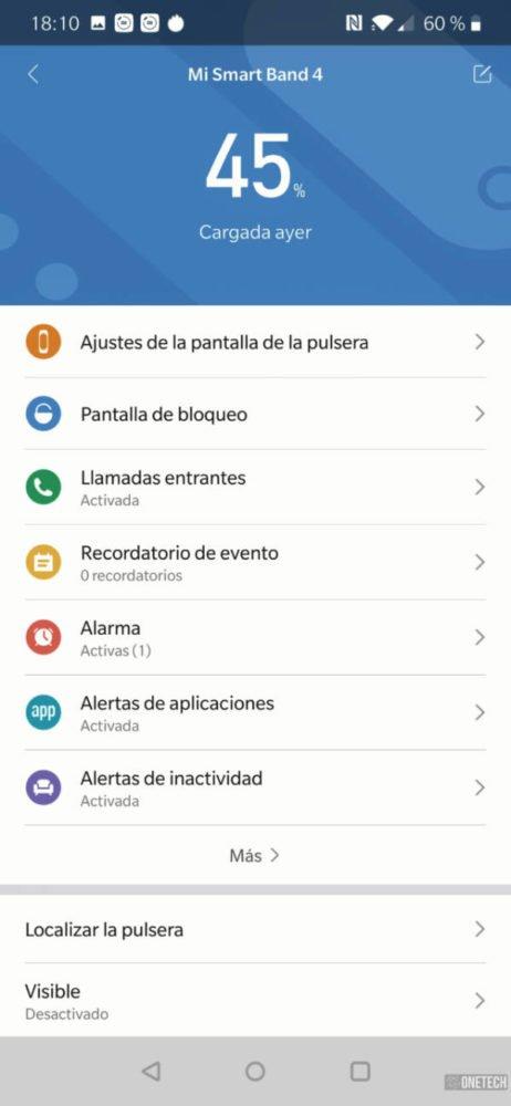 Xiaomi Mi Smart Band 4, análisis a fondo y opinión 15