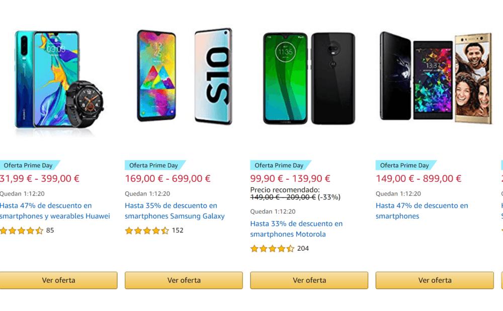 Última hora para comprar tu smartphone rebajado en el Amazon Prime Day 1