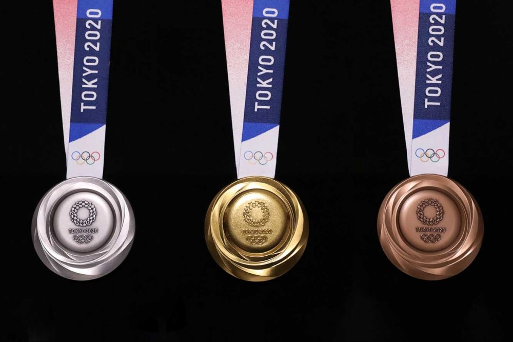 Así son las medallas hechos con móviles de las Olimpiadas de Tokio 202