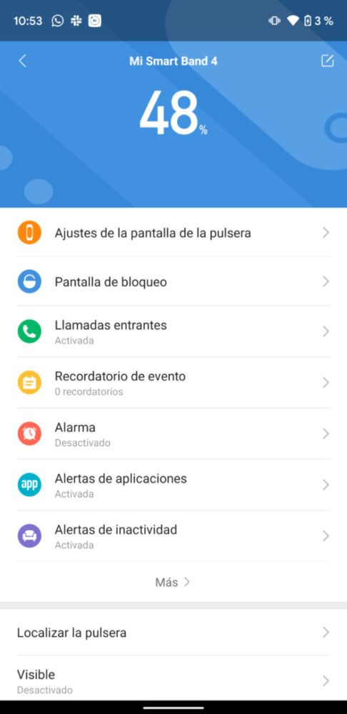 Como cambiar el fondo de pantalla de tu Xiaomi Mi Smart Band 4 3