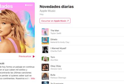 Apple Music lanza la nueva playlist 'Novedades diarias' 4