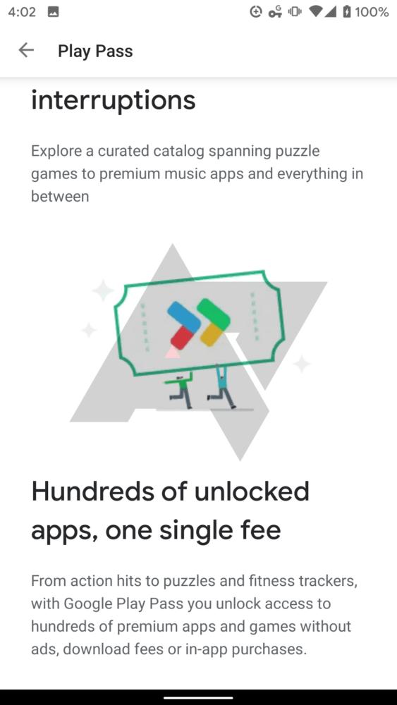 Google Play Pass, el servicio de suscripción de Google se filtra 2