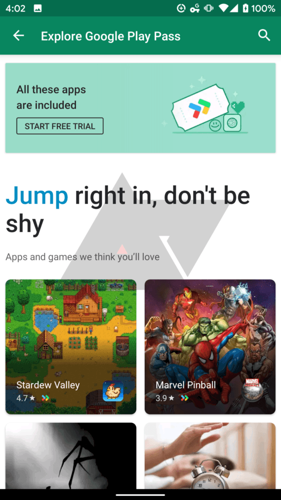 Google Play Pass, el servicio de suscripción de Google se filtra 3