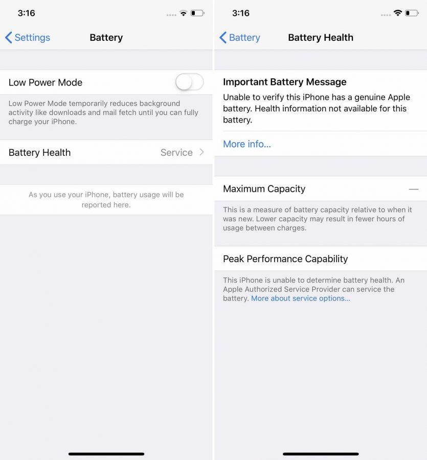 Apple no quiere que cambies la batería fuera de sus servicios, y te lo hará saber 2