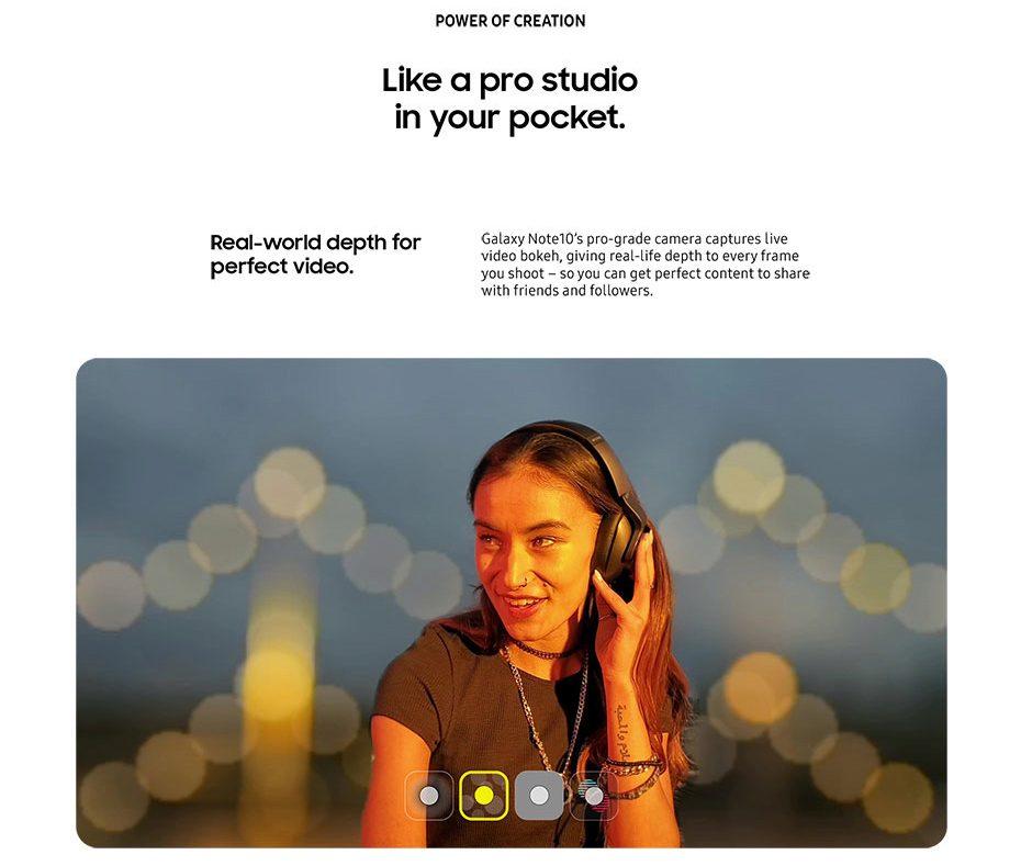 Galaxy Note 10, se filtran materiales de promoción confirmando diversos puntos 3