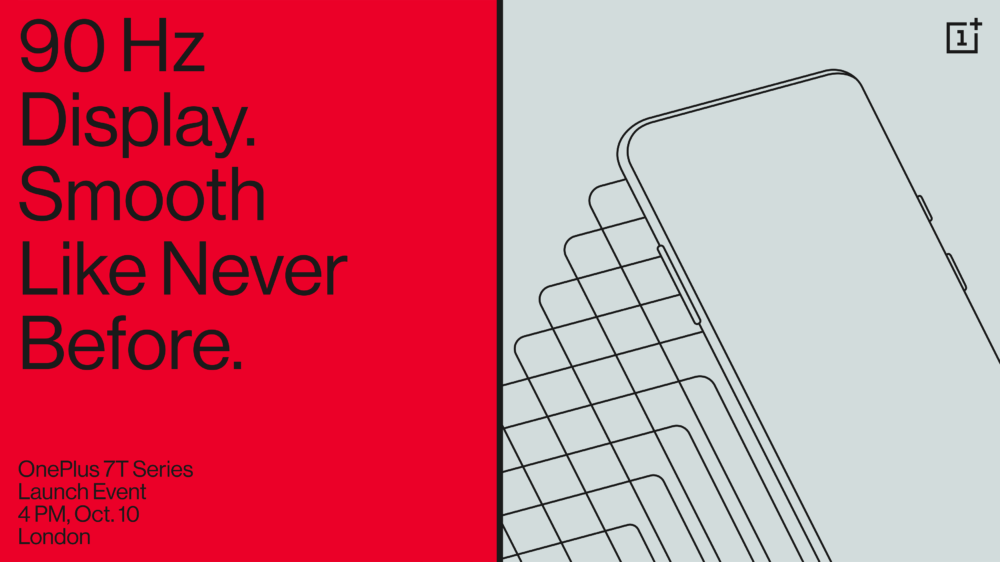 El OnePlus 7T será presentado el próximo 10 de octubre