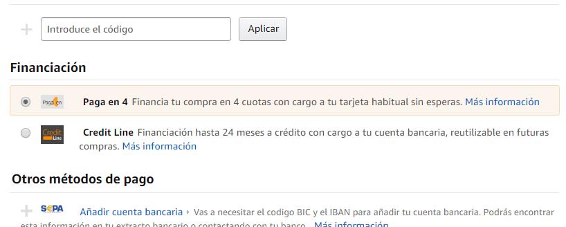 Ya puedes financiar tus compras en Amazon y pagar a plazos