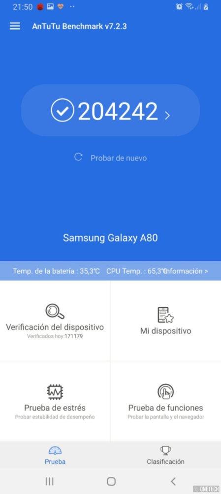 Samsung Galaxy A80 - Antutu