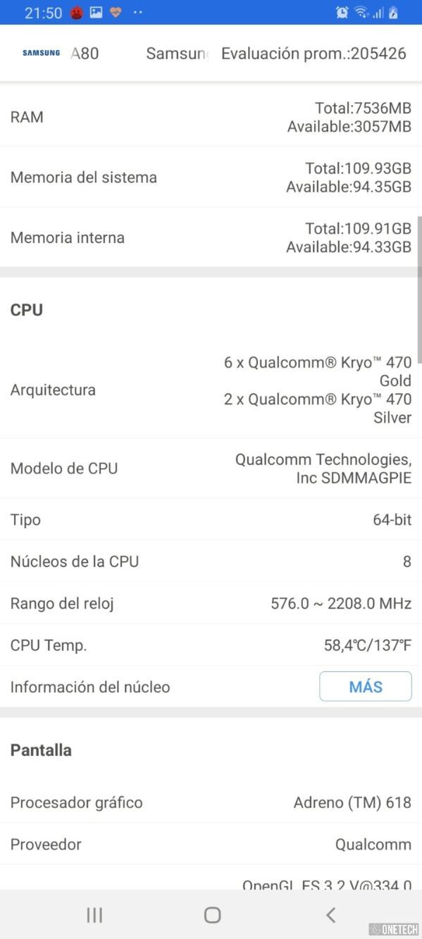 Samsung Galaxy A80, probamos este terminal con cámara giratoria 28