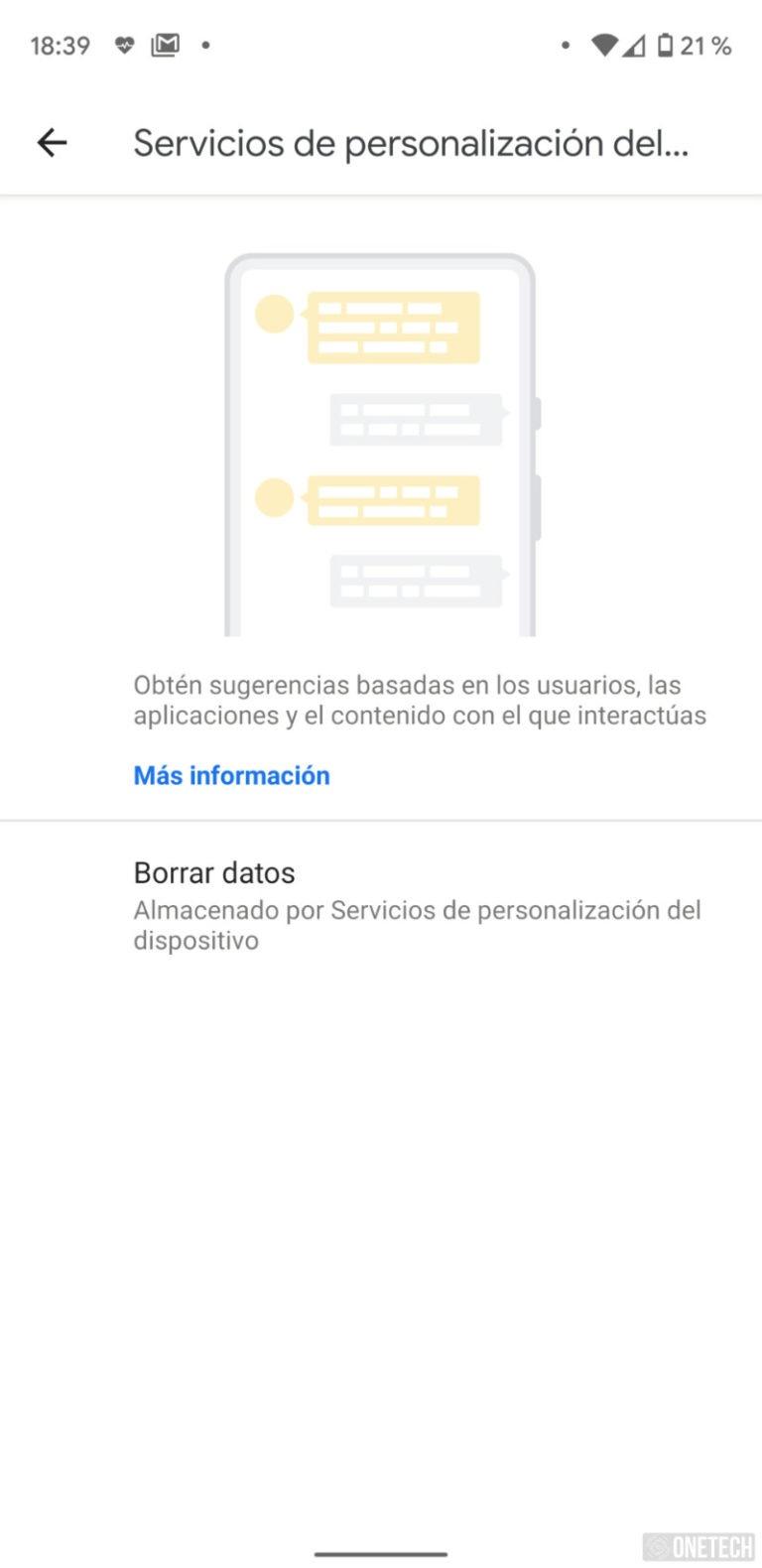 Android 10 mejora su privacidad con borrado de datos del Servicio de Personalización 4