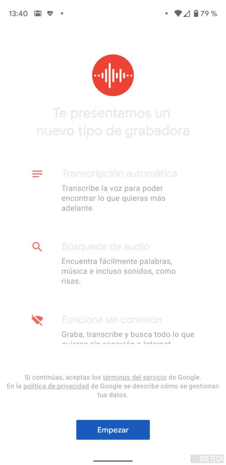 Grabadora de Google ahora cuenta con transcripción y detección de ubicación 1