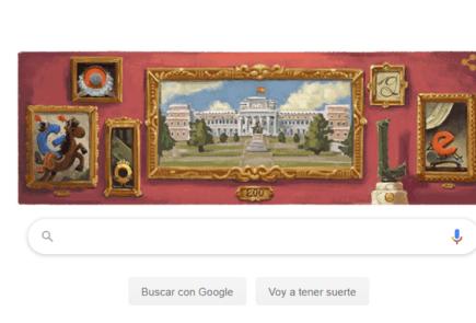 Google dedica su Doodle a los 200 años del Museo del Prado 2