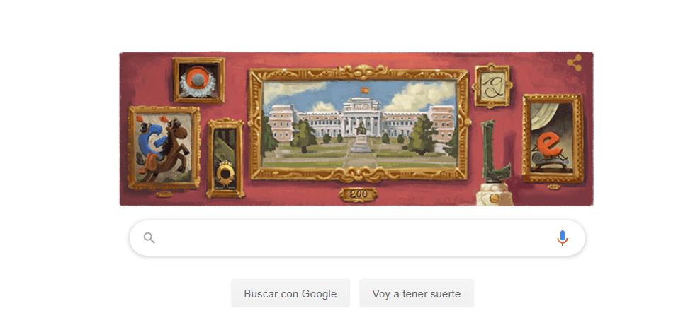Google dedica su Doodle al Museo del Prado